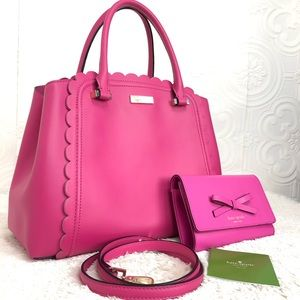 🌸OFFERS?🌸Kate Spade Leather Pink Set